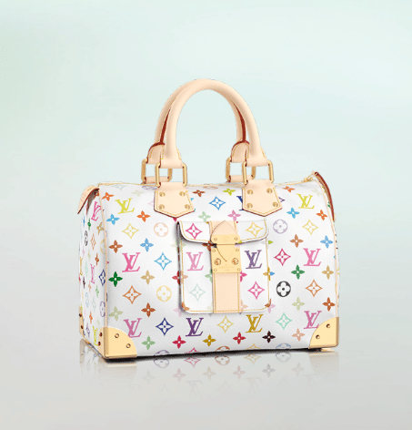 cc0fbced394f Louis Vuitton White Monogram Multicolore Speedy 30 Bag