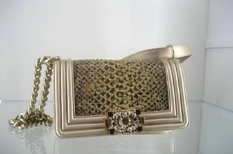 Chanel Boy Bag Snakeskin Chanel-gold-python-boy-bag