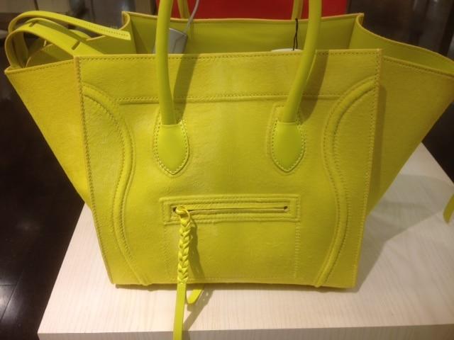 Tamara Ecclestone with Celine Citron Yellow Phantom Bag with Pony ...