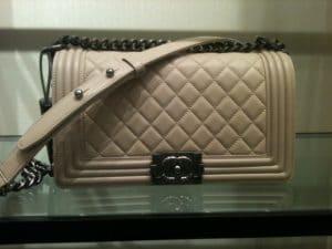 Chanel Beige Boy Bag 2012