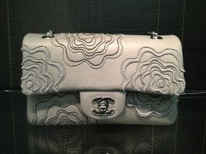 Chanel Beige Camellia Flap Small Bag 2012