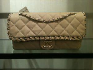 Chanel Beige Chain Me Flap Bag 2012