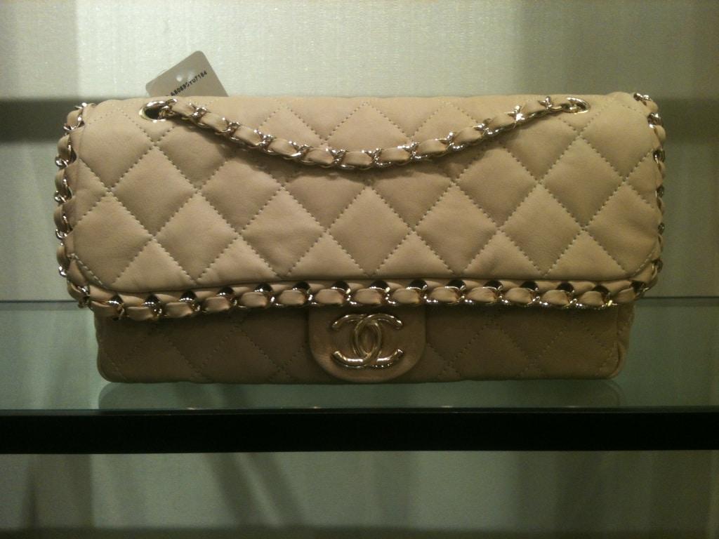 fedb2dabe299 Chanel Beige Chain Me Flap Bag 2012
