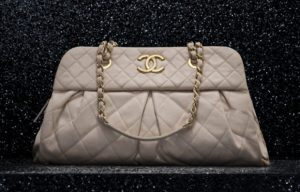 Chanel Beige Chic Quilt Bowling Bag 2012