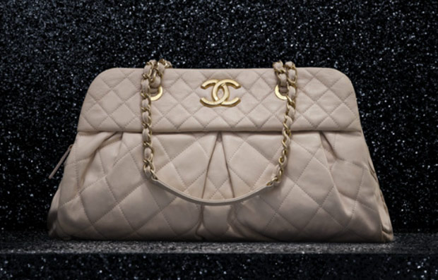 Chanel Beige Chic Quilt Bowling Bag 2012. Chanel Beige Chain Me ... a3a741b89d