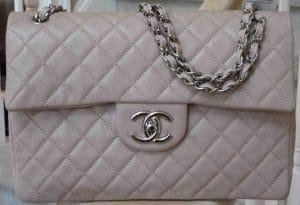 Chanel Beige Classic Flap Maxi Bag 2009