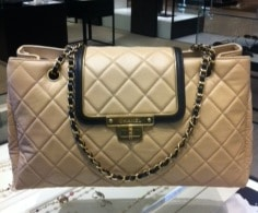 Chanel Beige East West Tote Small Bag 2012