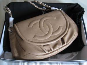Chanel Beige Half Moon WOC Bag 2012