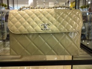 Chanel Beige Patent In The Business Flap Bag 2011