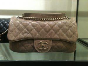 Chanel Beige Shiva Flap Small Bag 2012