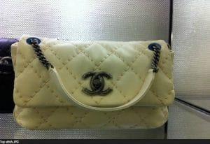 Chanel Beige Stitch Tote Bag 2012