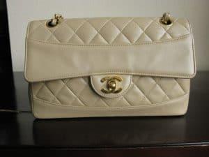 Chanel Beige Vintage Double Flap Bag