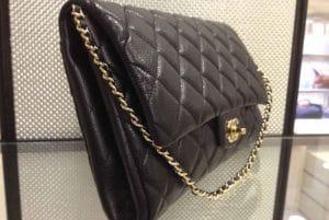 Chanel Black New Clutch Caviar Bag - fall 2012 - 2