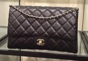 Chanel Black New Clutch Caviar Bag - fall 2012