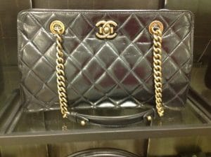 Chanel Black Perfect Edge Shopping Tote Bag