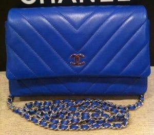 Chanel Blue Chevron WOC Bag 2011