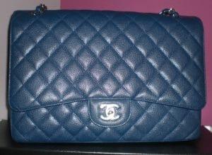 Chanel Blue Fonce Classic Flap Maxi Bag 2009
