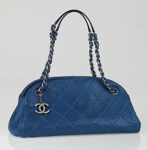 Chanel Blue Just Mademoiselle Medium Bag 2011