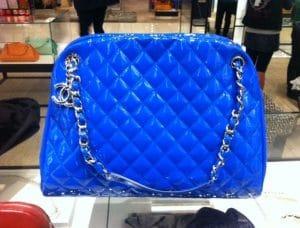 Chanel Blue Mademoiselle Large Bag 2012