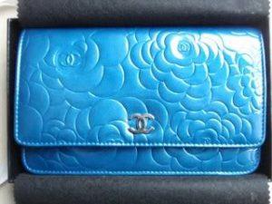 Chanel Blue Patent Camellia WOC Bag 2011