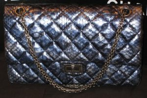 Chanel Blue Python Reissue Flap 226 Bag 2010