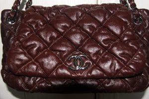 Chanel Bordeaux Bubble Quilt Flap Bag 2008