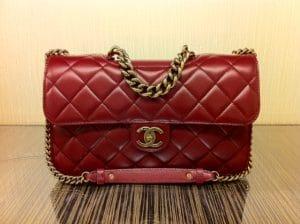 Chanel Burgundy Perfect Edge Jumbo Flap Bag
