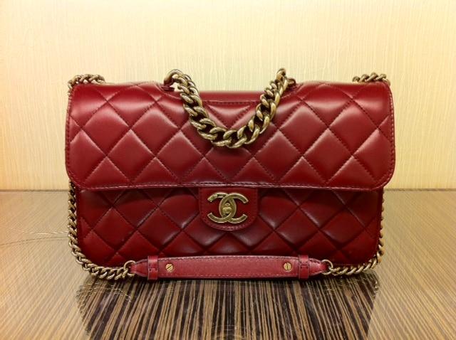 267cf673f7ea Chanel Burgundy Perfect Edge Jumbo Flap Bag