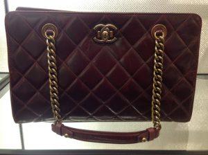 Chanel Burgundy Perfect Edge Shopping Tote Bag