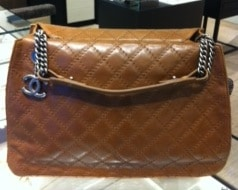 Chanel Dark Beige CC Crave Tote Large Bag 2012