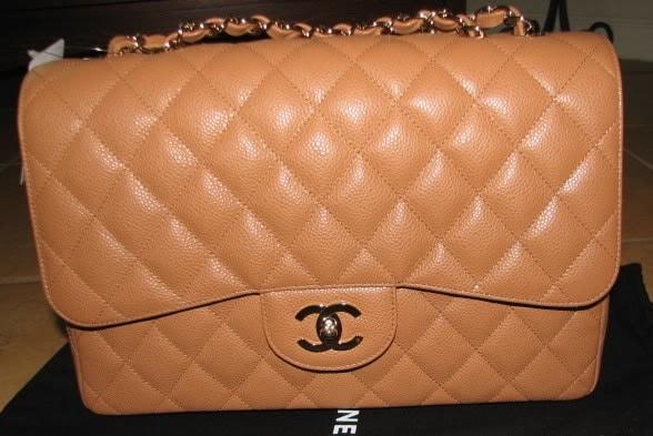 adfccd479d3a Chanel Dark Beige Classic Flap Jumbo Bag 2006