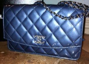 Chanel Dark Blue Brilliant WOC Bag 2011