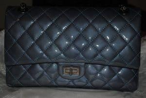 Chanel Dark Blue Patent Reissue Flap 226 Bag 2011