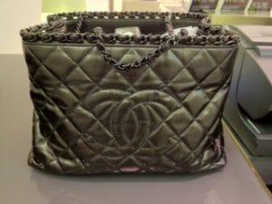 Chanel Dark Grey Chain Me Tote Bag 2012