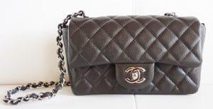 Chanel Dark Grey Classic Flap Mini Bag 2012