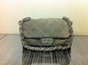 Chanel Dark Grey Darjeeling Flap Medium Bag 2012
