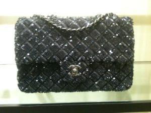 Chanel Dark Grey Sequin Flap Bag 2012