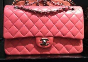 Chanel Dark Pink Classic Flap Medium Bag 2012