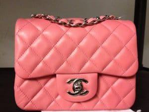 Chanel Dark Pink Classic Flap Mini Bag 2012