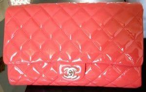 Chanel Dark Pink Timeless Clutch Bag 2012