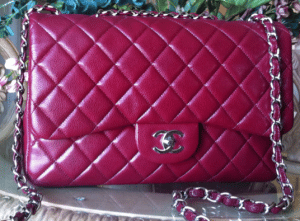 Chanel Dark Red Classic Flap Bag 2010