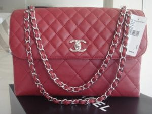 Chanel Dark Red In The Business Flap Bag 2012