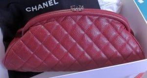 Chanel Dark Red Timeless Clutch Bag 2012