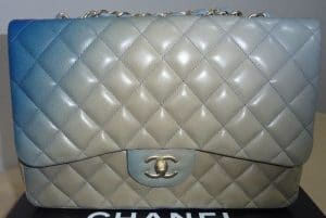 Chanel Degrade Blue Classic Flap Jumbo Bag 2010