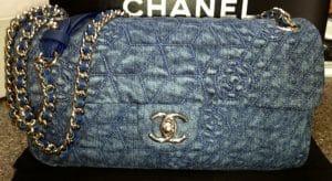 Chanel Denim Blue Camellia Flap Bag 2012
