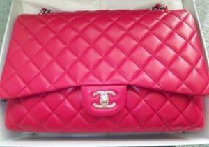 Chanel Fuchsia Classic Flap Maxi Bag 2009