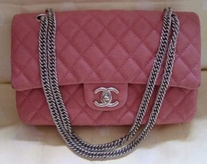 Chanel Glazed Pink Classic Flap Medium Bag 2009