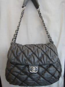 Chanel Grey Bubble Quilt Flap Bag 2008