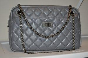 Chanel Grey Camera Case Bag 2009