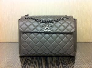Chanel Grey Lady Pearly Flap Bag 2012